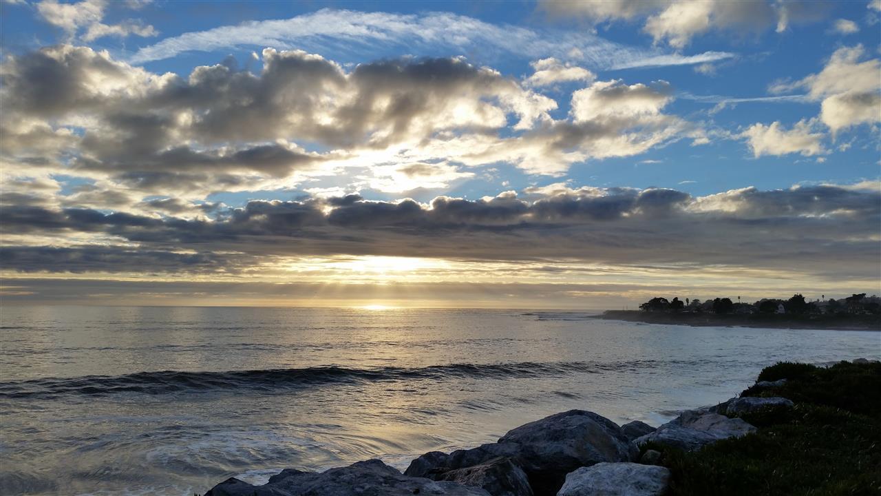 Beautiful view from West Cliff Drive- Santa Cruz, California