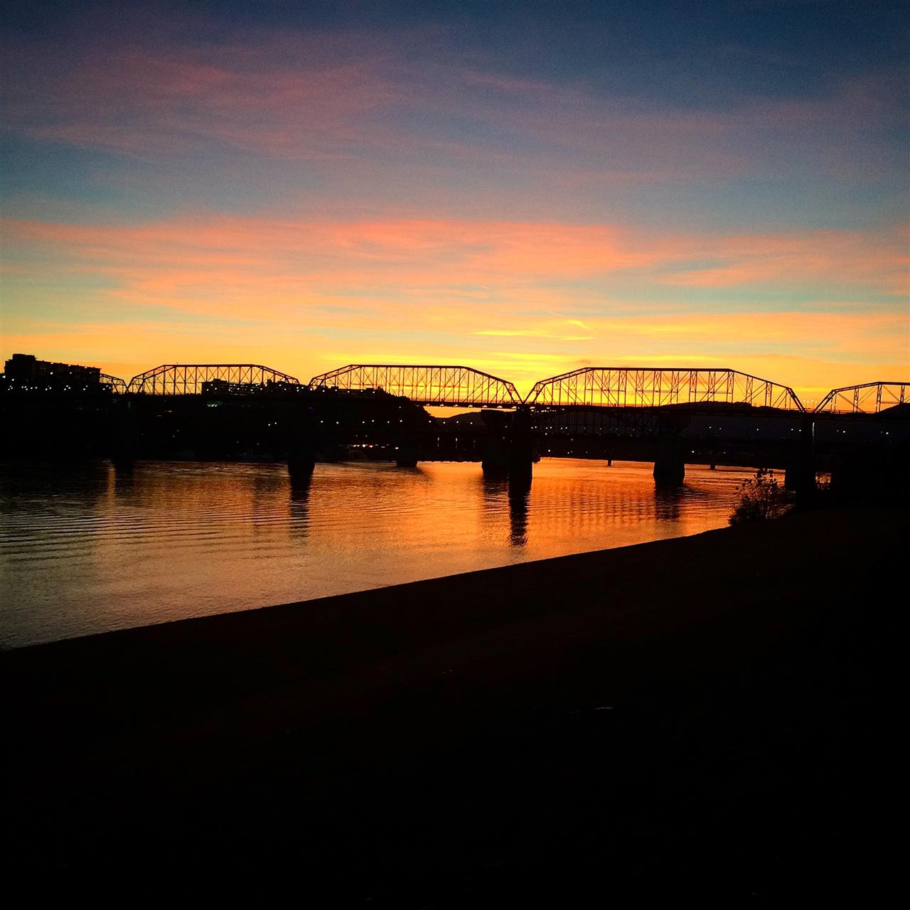 Walnut Street Bridge in Chattanooga, TN