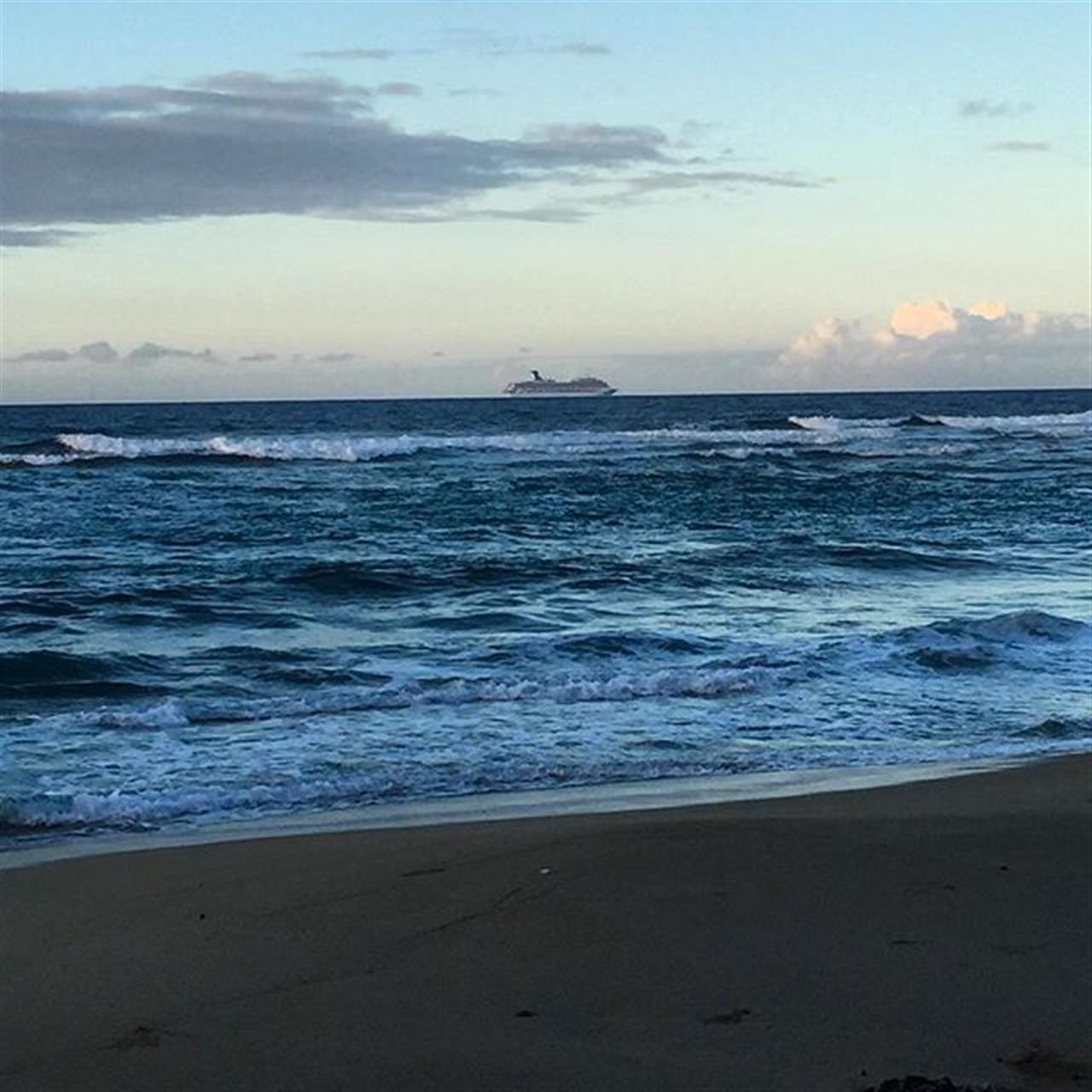 Another cruise ship passing by! #DominicanRepublic #beach #ocean #leadingrelocal #Cabarete