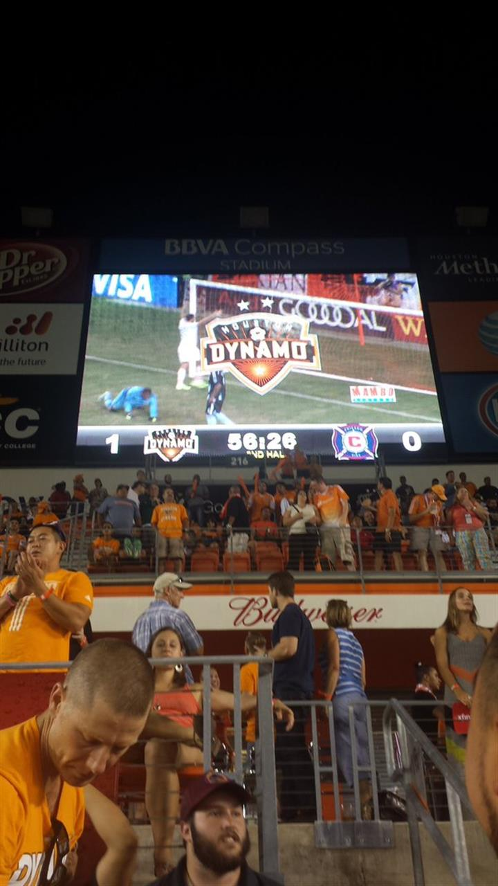 Professional soccer by the Houston Dynamos