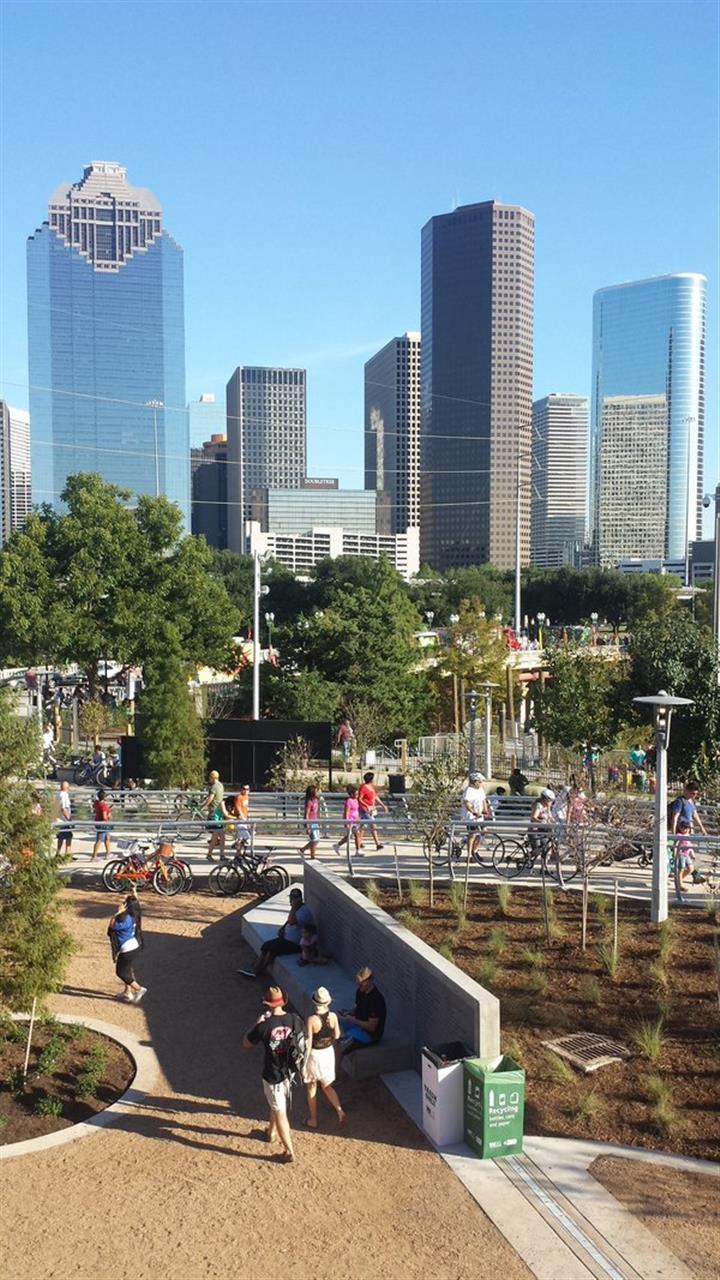 Grand opening of Buffalo Bayou Park in Houston