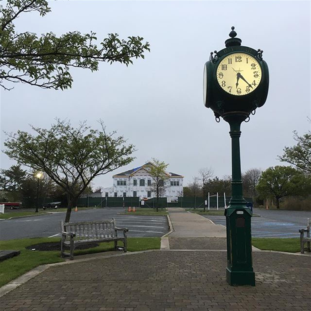 The new Bay Head Borough Hall and clock tower, Bay Head, New Jersey.