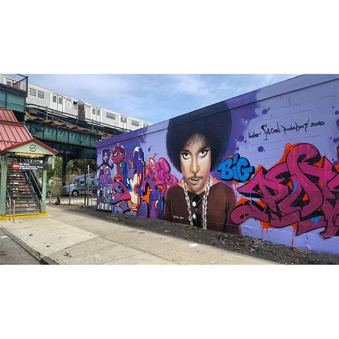 Stumbled on this Prince memorial today #nyc #brooklyn #cypresshills #leadingrelocal