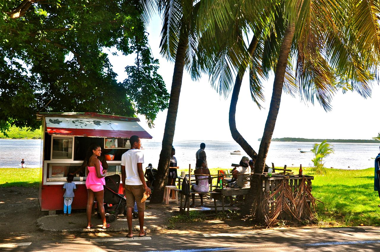 "The South of Mauritius is famous for its natural beauty and authenticity. Road side small ""boutiks"" gathers the neighbourhood at lunch time"