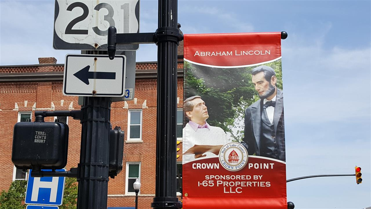 #Crown Point Indiana #Crown Point Square #AbeLincoln
