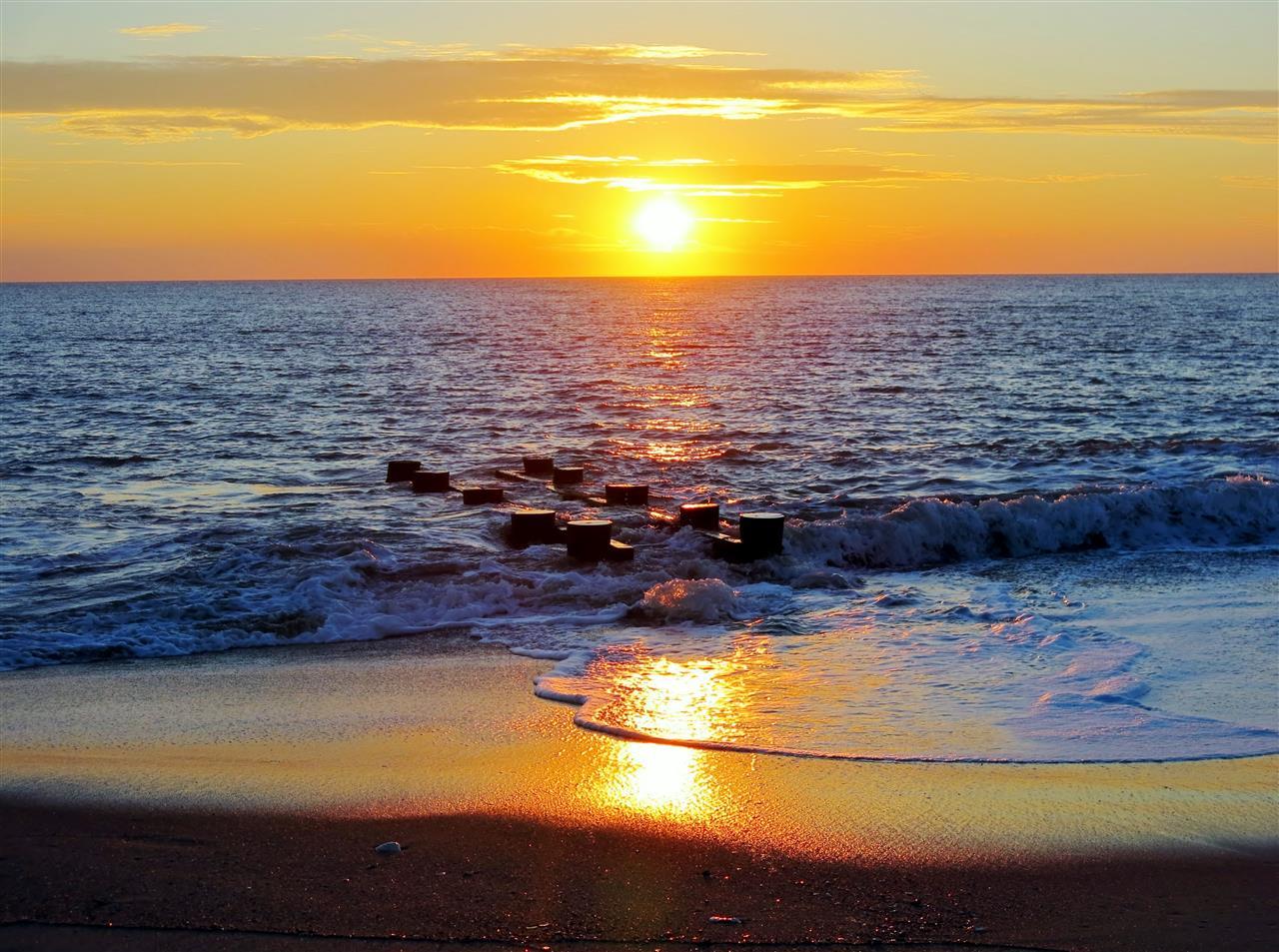 Rehoboth Beach Delaware  golden morning