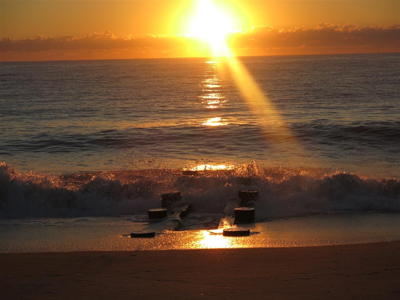 Rehoboth Beach Delaware - sunrise over the jetty
