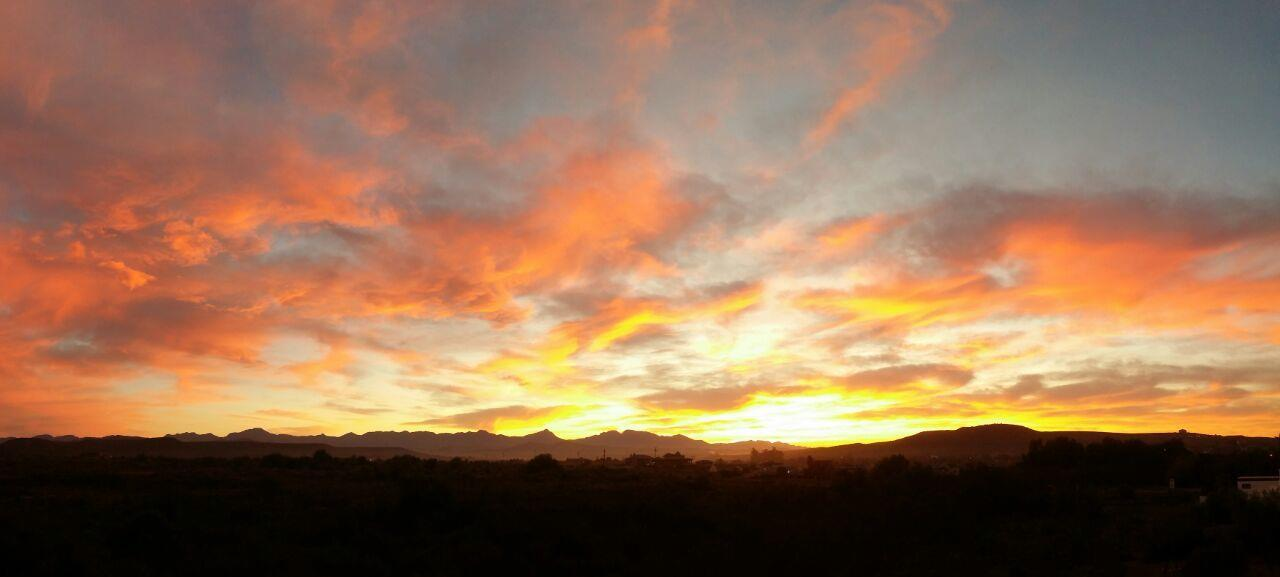 Sunset in Oudtshoorn, the heart of the Klein Karoo.