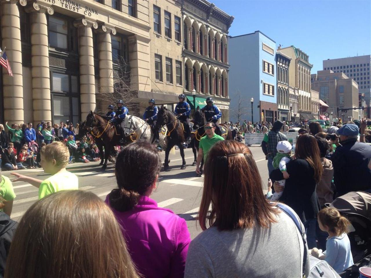 The St. Patrick's Day parade in Lexington!