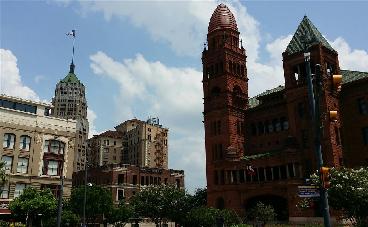 Bexar County Courthouse and surrounding area.