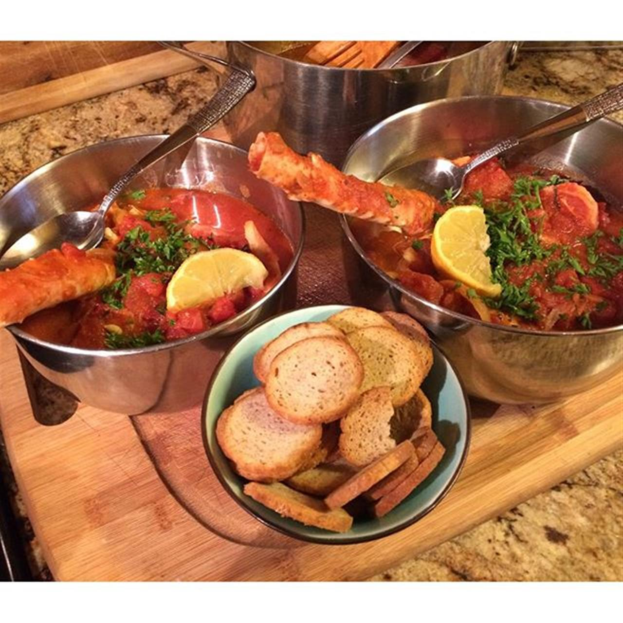 When a homemade Cioppino is called for! Love the seafood delivery guy!  #liveintahoe #southlaketahoe