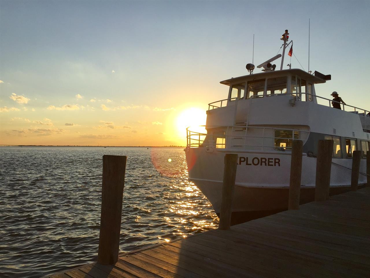 The only way to reach the beaches of Fire Island on Long Island is by ferry.  A truly beautiful way to travel.