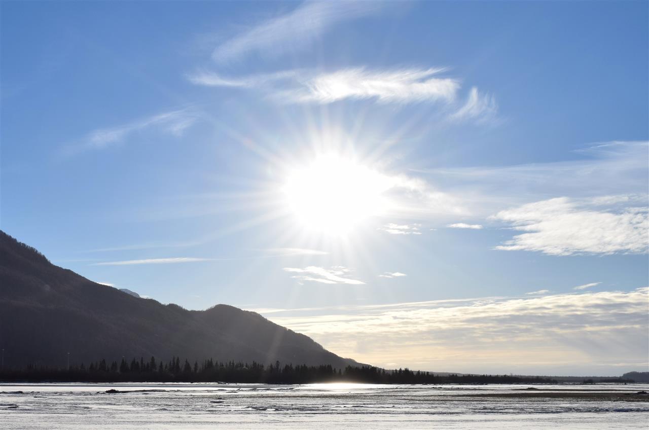 Sunbeams over the Knik River, Palmer, Alaska