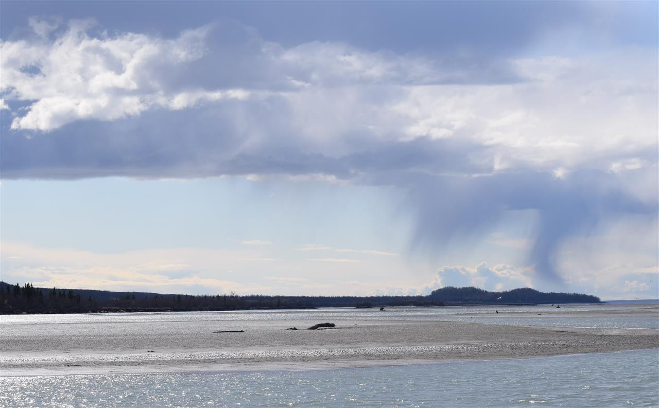 Watching the weather over Knik River. Palmer, Alaska