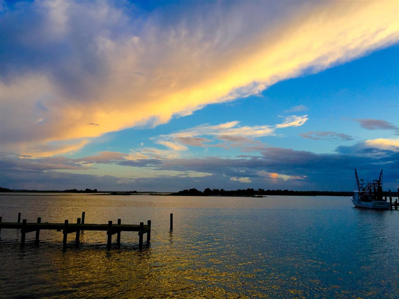 Sunset over Bogue Sound, Swansboro, NC