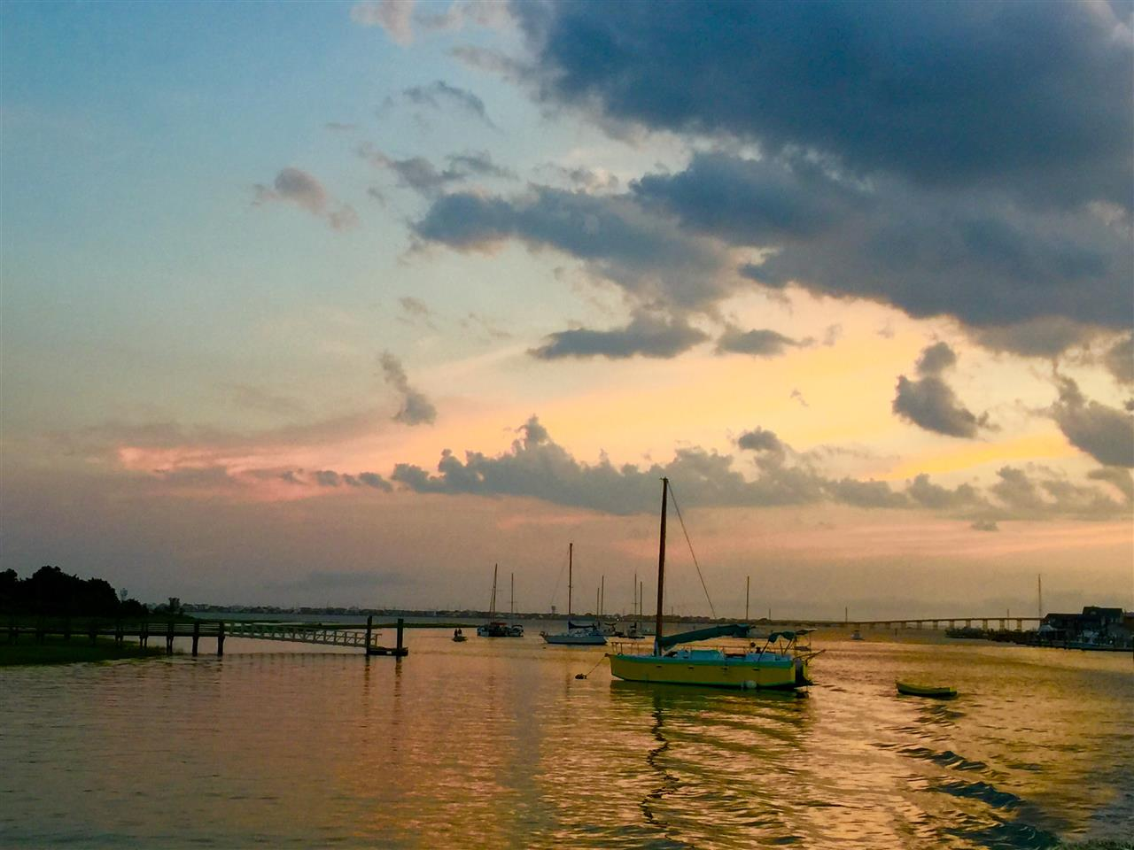 Sunset on the water, Swansboro, NC