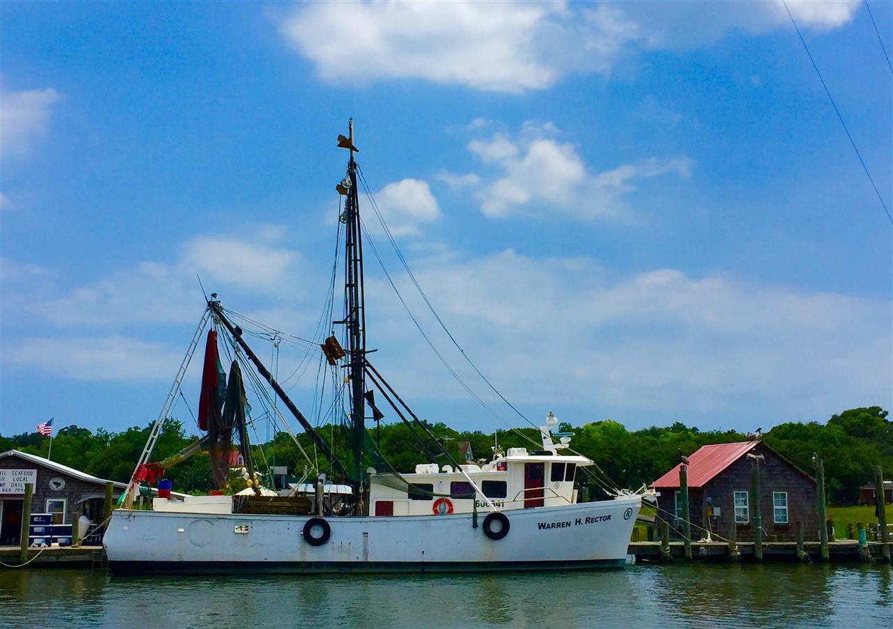 Shrimp Boats at dock, Cape Carteret, NC