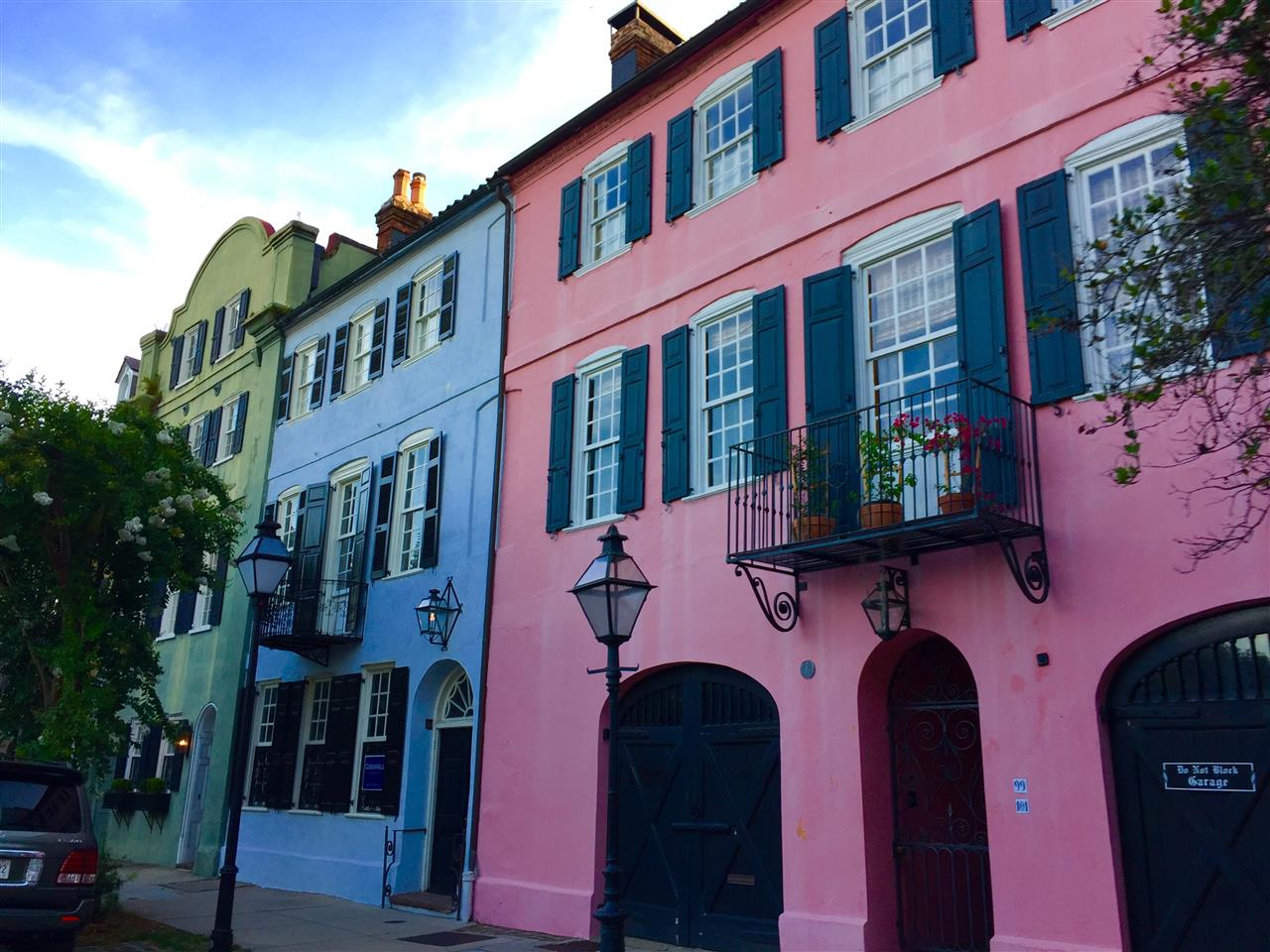 Rainbow Row houses, Charleston, SC