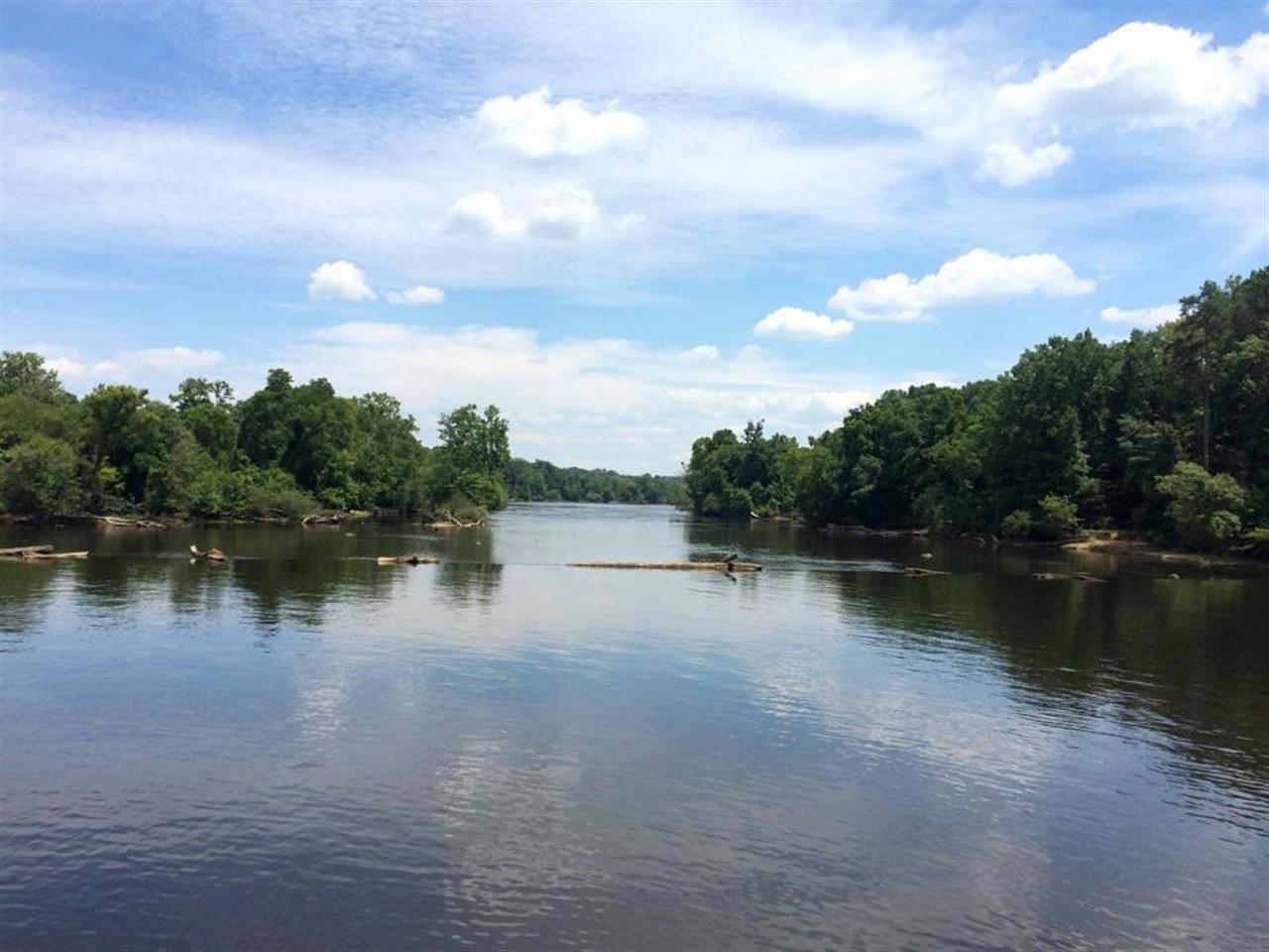 The scenic Cape Fear river near Sanford NC