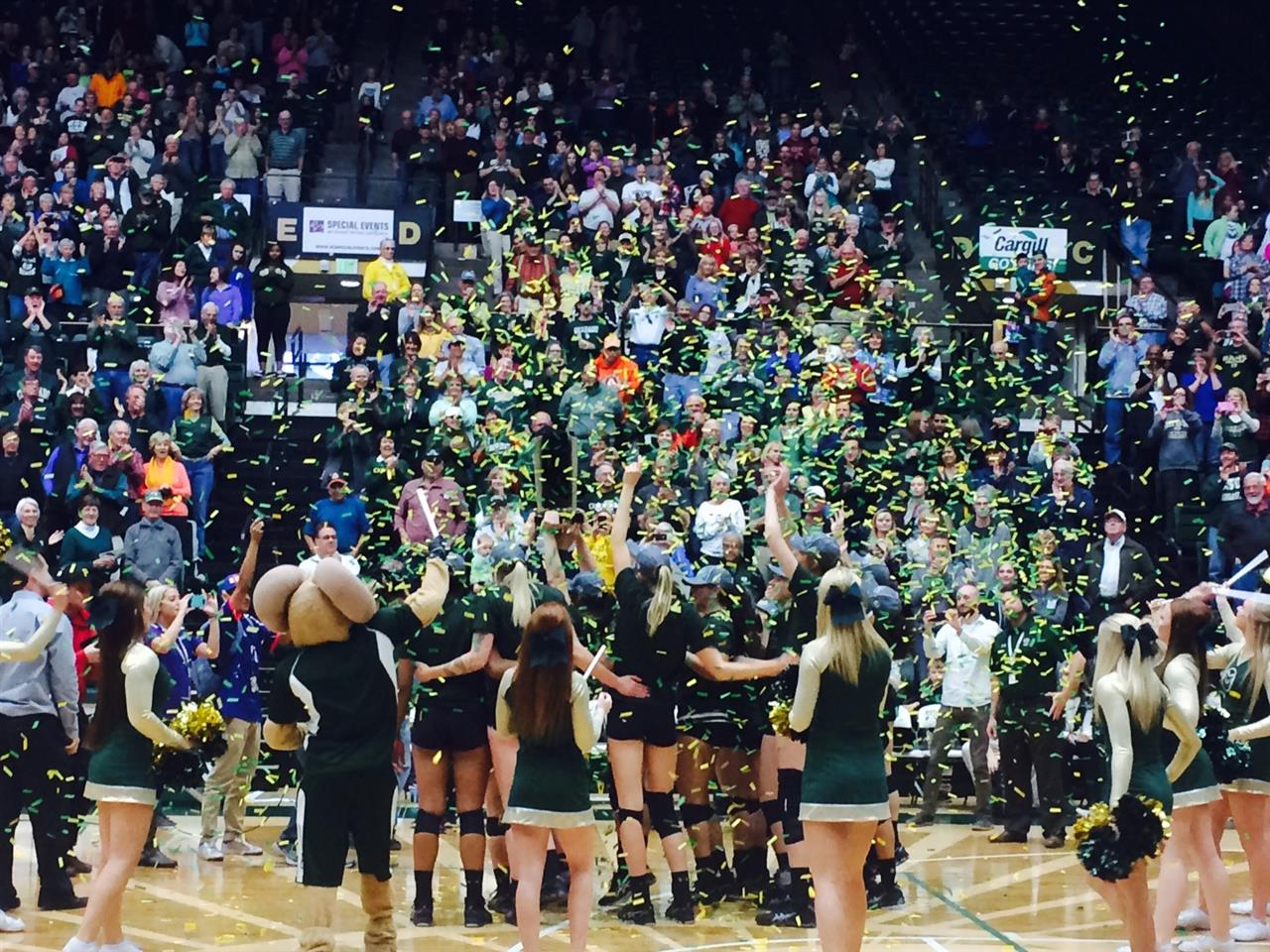 Colorado State University volleyball champs