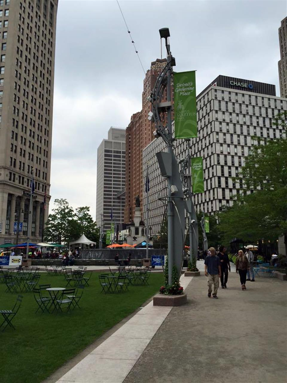 Campus Martius Park in downtown Detroit #Campus Martius #Detroit #Michigan #LeadingReLocal