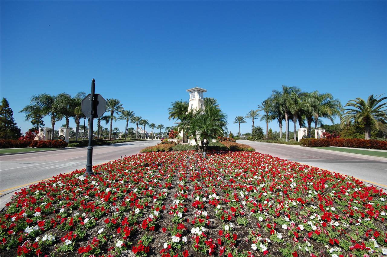 MiraBay community entrance Apollo Beach Florida
