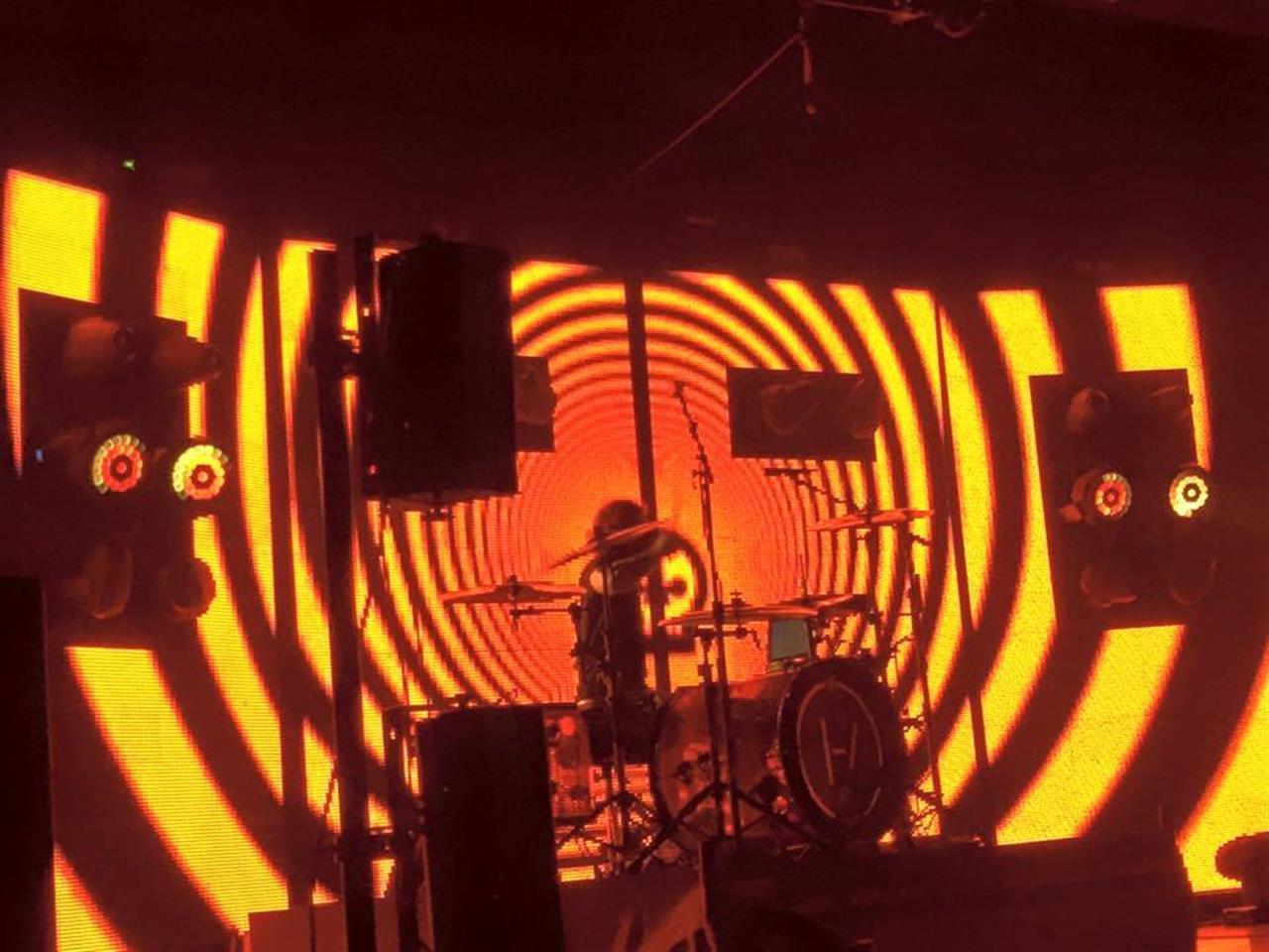 Twenty One Pilots performing at DTE Music Theatre #Clarkston #Michigan
