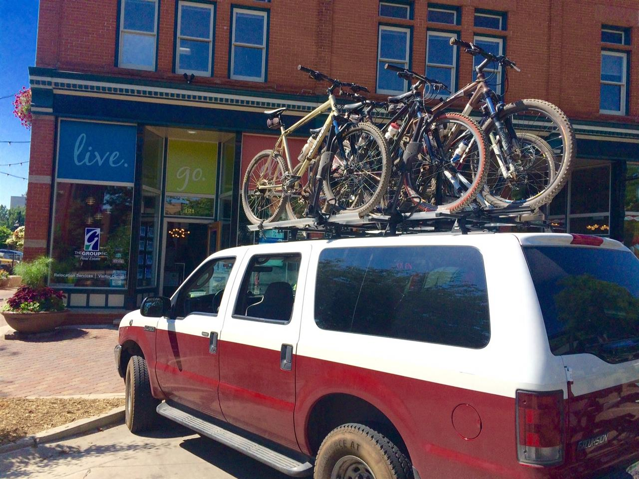 "This is so Fort Collins. With a slogan of ""beer, bikes, and bands,"" it's not uncommon to see sights like this."