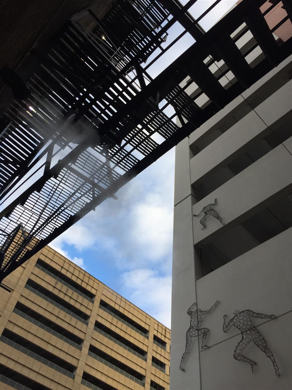 Art in ôThe Beltö, a newly redeveloped alley filled with public art connecting Grand River and Gratiot Avenue between Broadway and Library Street in downtown Detroit.  #Detroit #Michigan