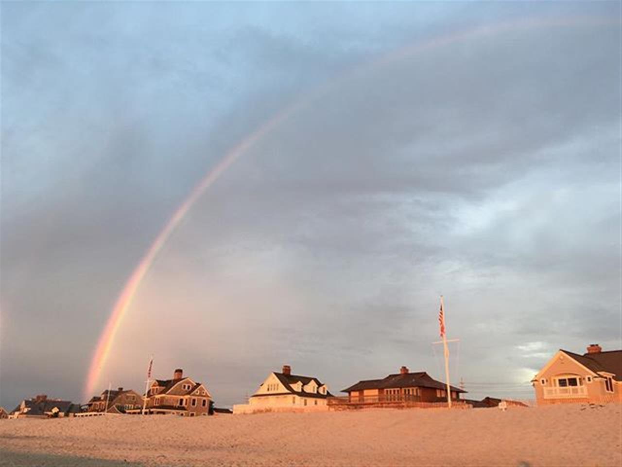 Rainbow over Mantoloking... #nj #rainbow #goodmorning #sunrise #jshn #leadingrelocal