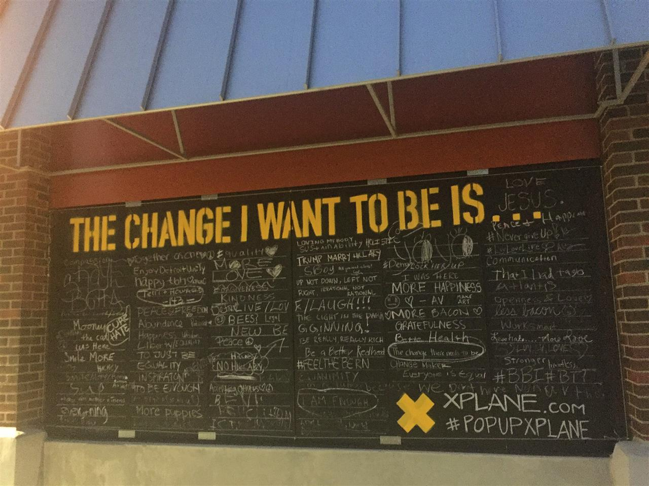 """Community sharing wall for: """"The Change I Want to Be..."""" in Eastern Market #EasternMarket #Detroit #Michigan"""