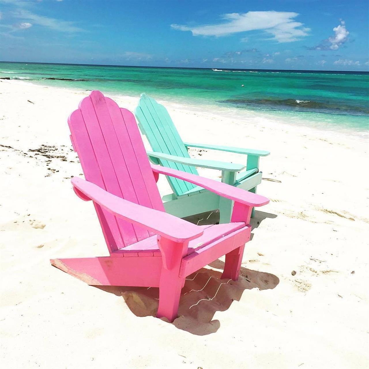 Beach chairs, Nassau, Bahamas