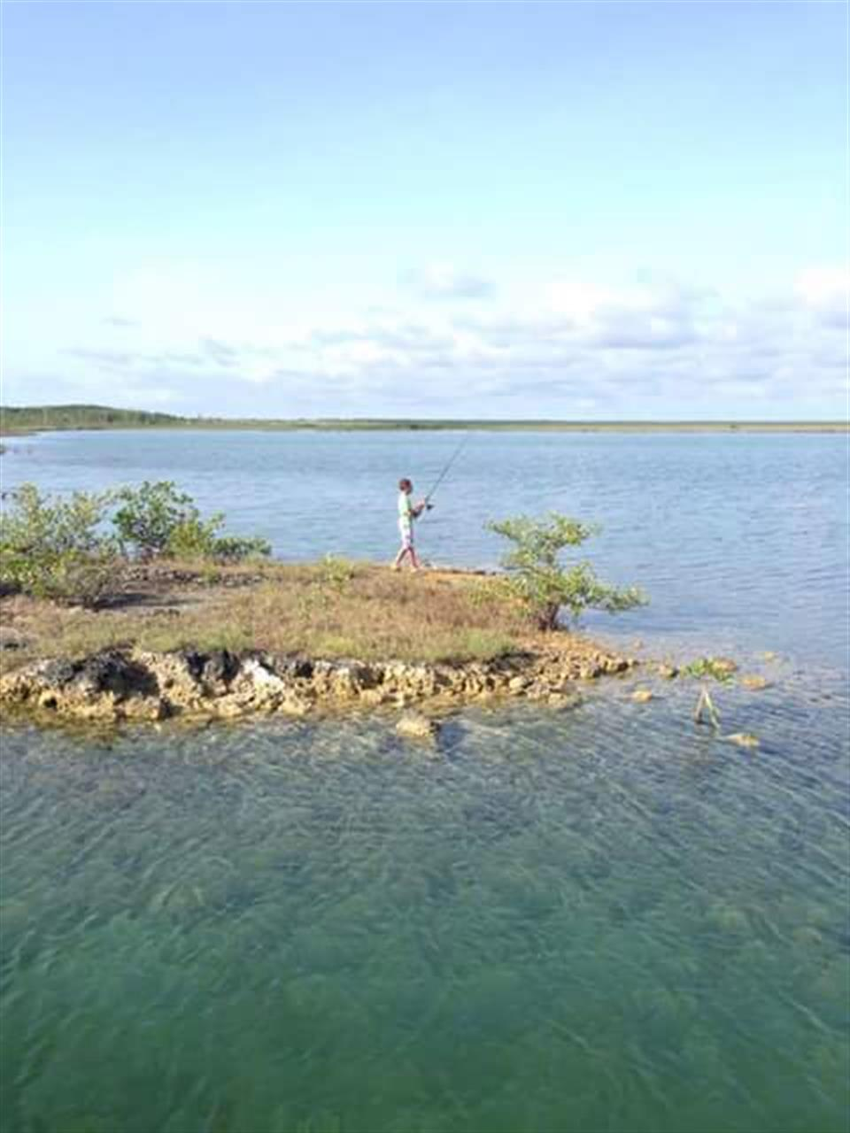 Fishing off the rock, Abaco