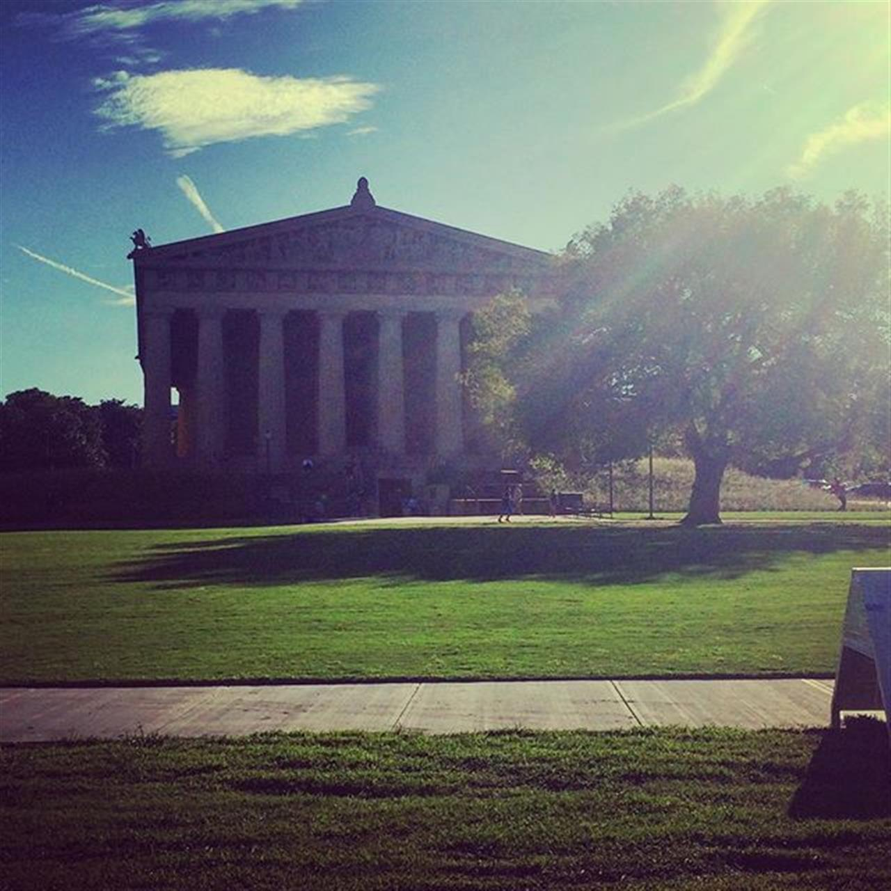 Perfect weather calls for #Parthenon walks. #nashville #centennialpark