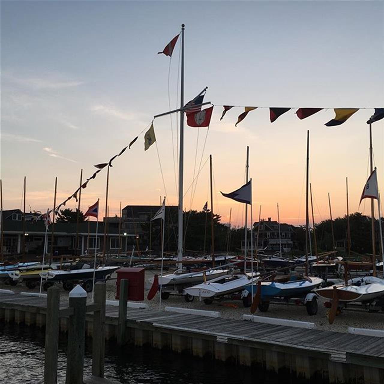 Early morning... #boats #flags #sailing #nj #goodmorning #jshn