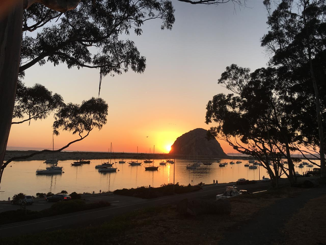 Another colorful sunset in beautiful Morro Bay, California.