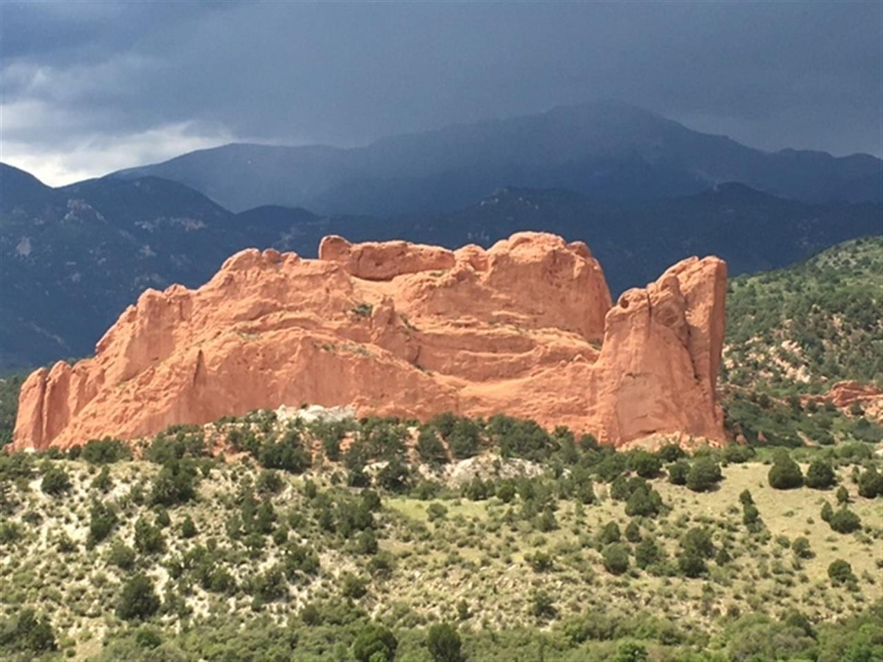 Changing weather over Garden of the Gods.
