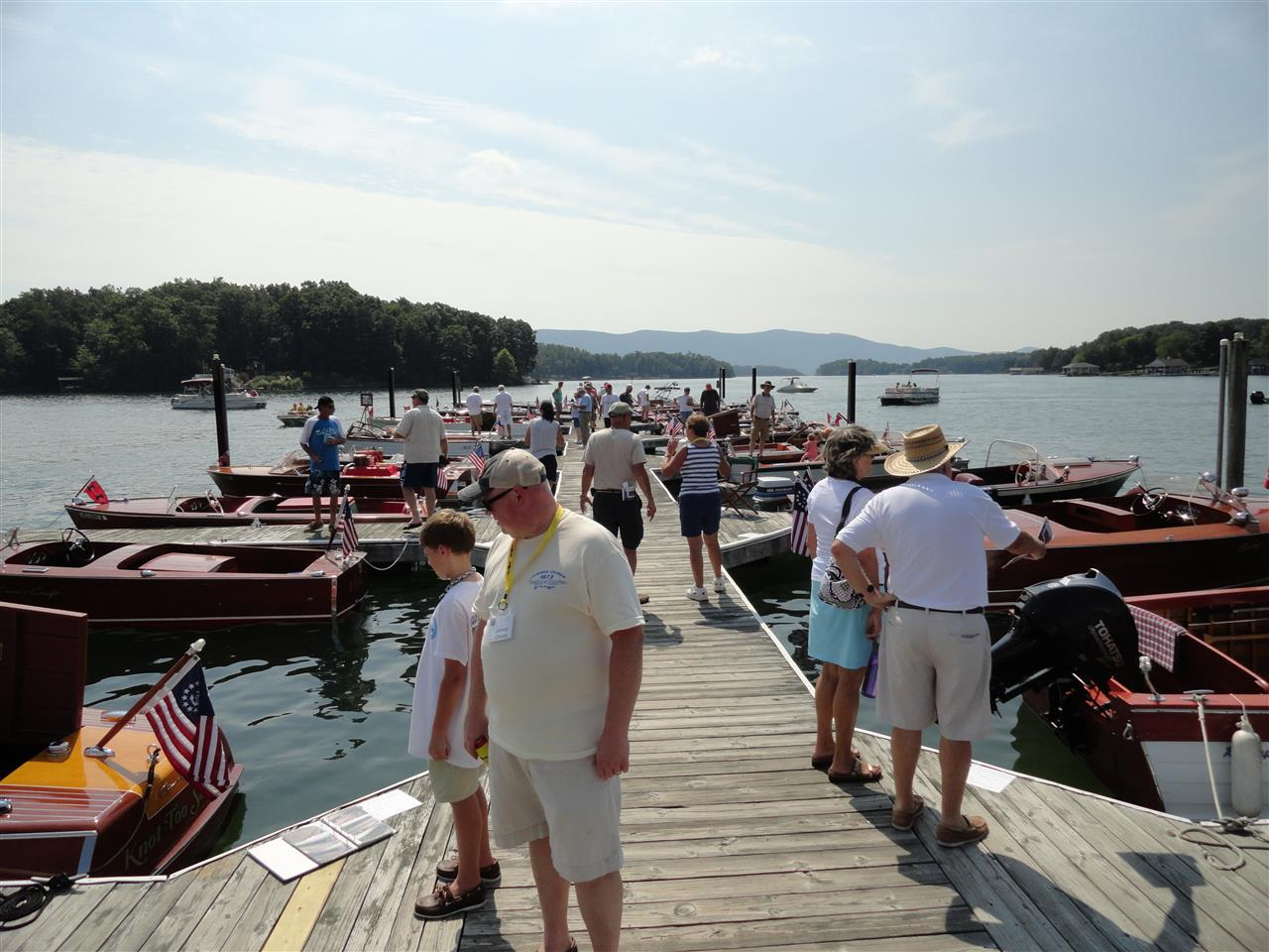 Great crowd at Smith Mountain Lake's Annual Antique Boat Show!