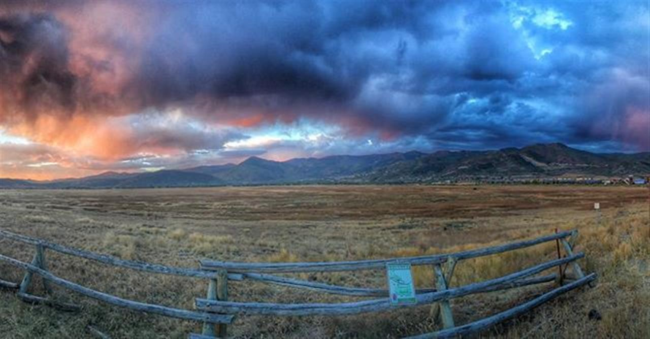 The sunrise in Park City overlooking the @swanerpreserve was unbelievable the other morning #parkcity