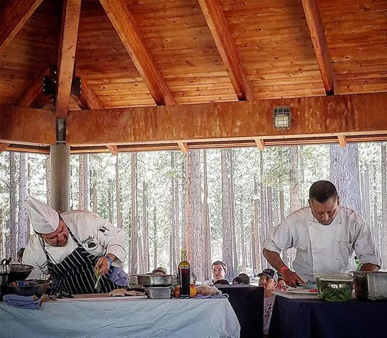 When two of the best chefs you've ever worked with compete against each other in a event! Ken Druley and Jimi Nakamatsu. Love these two chefs!   #southlaketahoe #laketahoerestaurants  #tahoechefs #mirrabelle