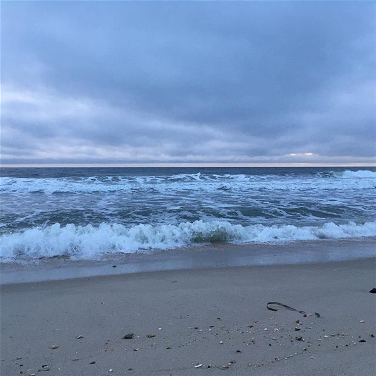 A nice cool gray morning at the beach... #goodmorning #nj #beaches #sunrise #jshn