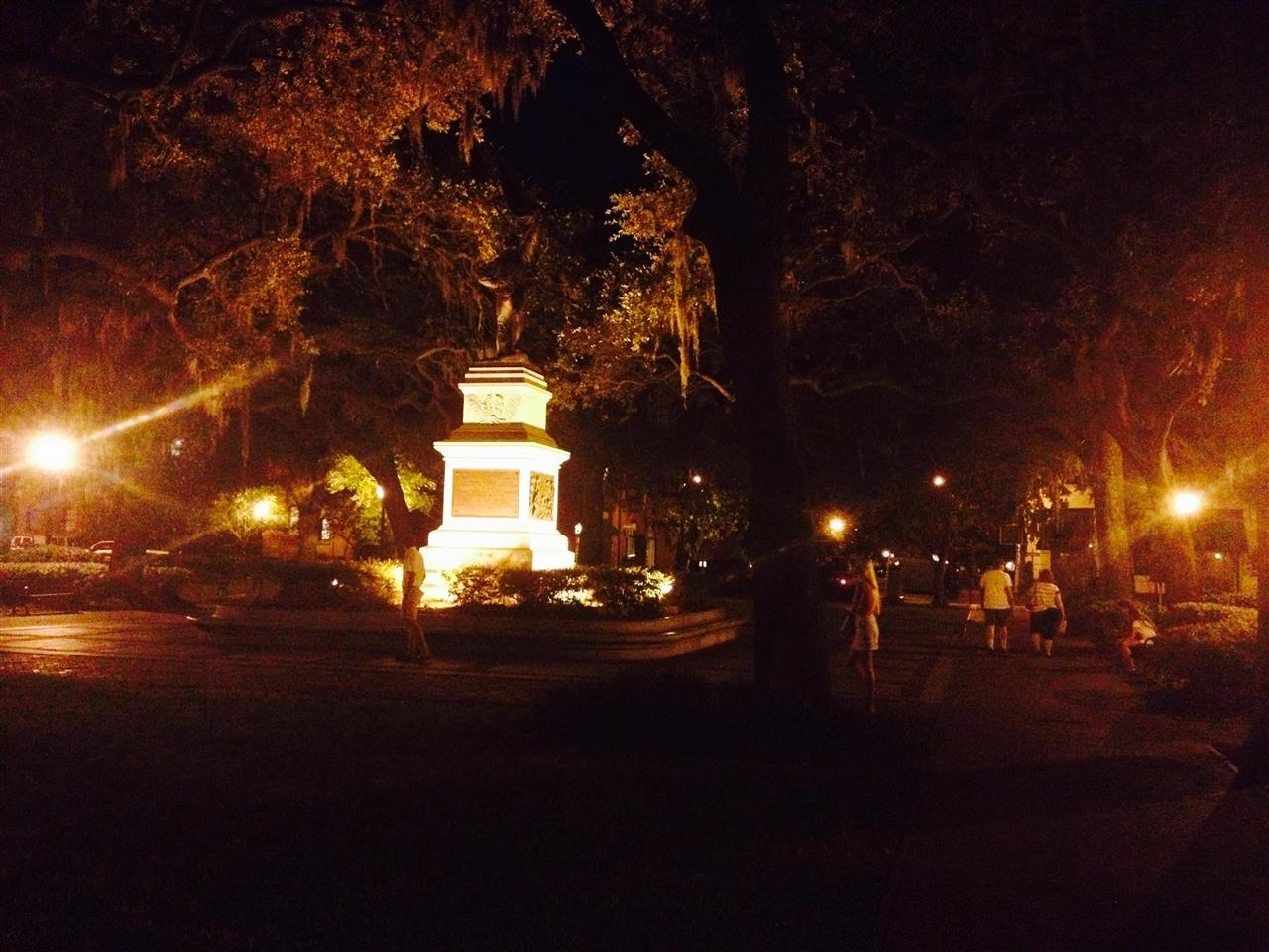 Madison Square after dark