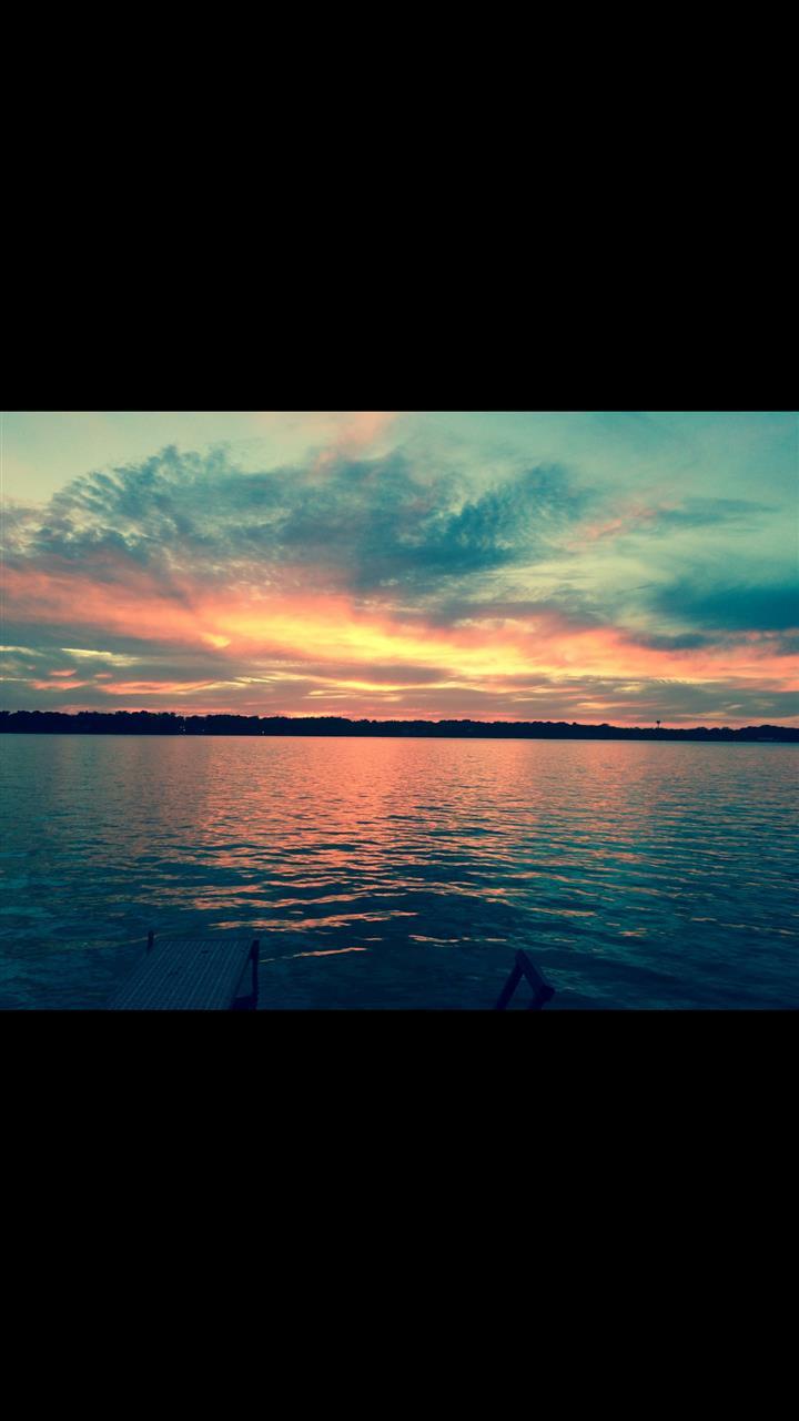 Sunset over Cedar Lake