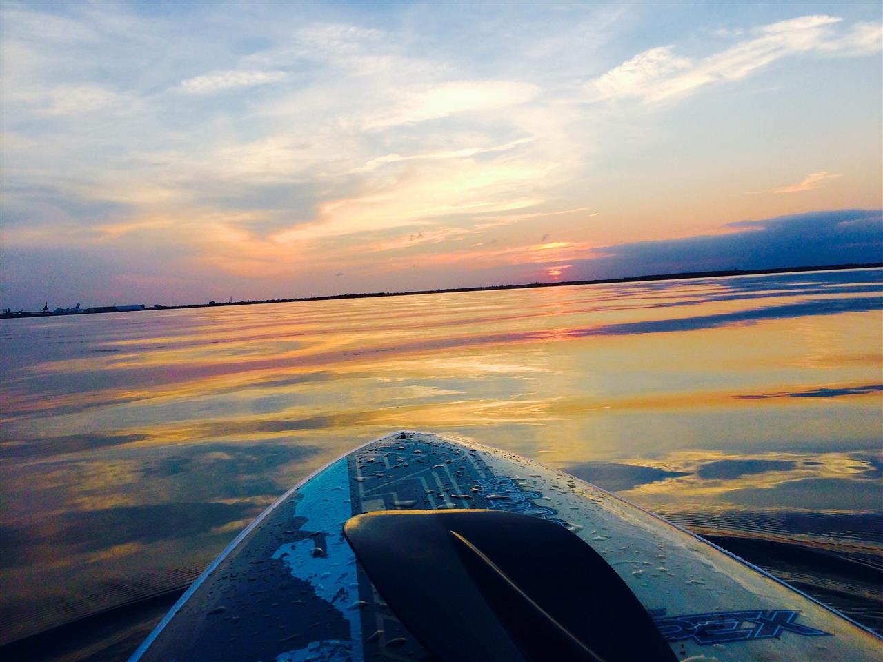 Sunset Paddleboarding, Beaufort NC