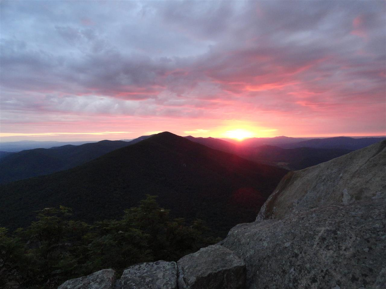 Sharp Top Mountain Sunrise, Peaks of Otter, Bedford, VA
