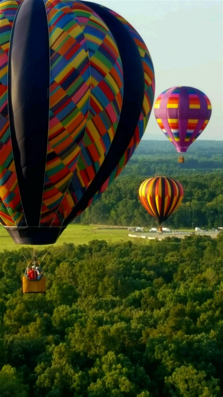 August Balloon festival at the Flying Circus in Bealeton, Virginia