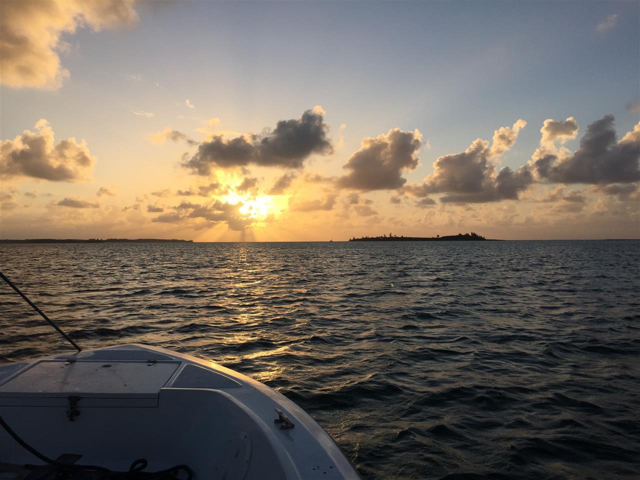 Sunset on the bow, Nassau, Bahamas
