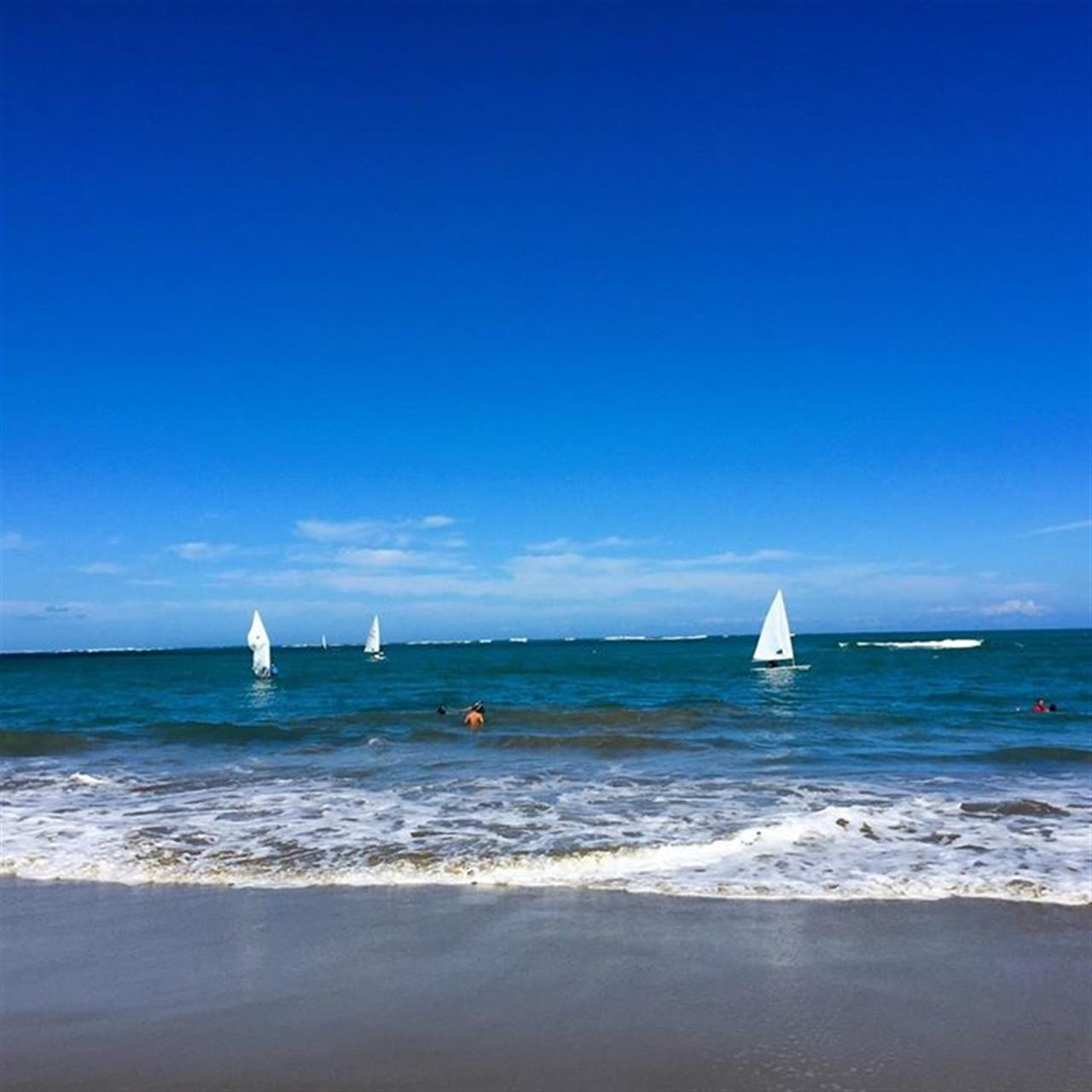 Laser sailing on a Sunday morning at Carib Wind in Cabarete. www.selectcaribbean.com