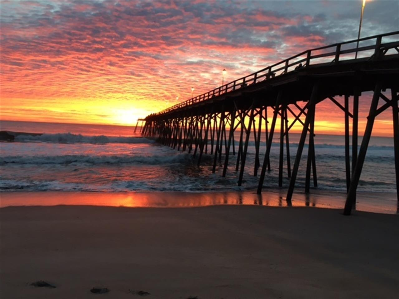 Sun rise at fishing pier in Kure Beach, North Carolina  One of those thank you God mornings