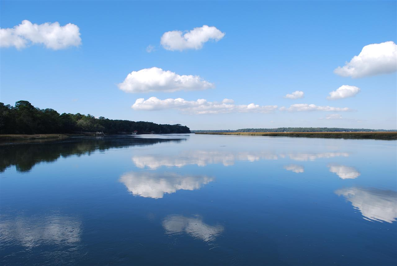 reflection on the river, Beaufort, SC